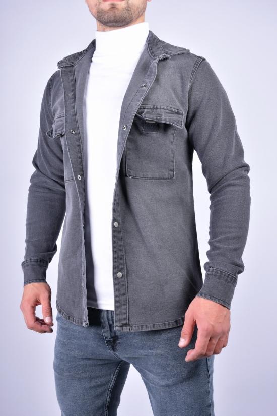 Рубашка мужская котоновая (цв.серый) CONS DIKMAXS Размеры в наличии : 44, 46, 48, 50, 52 арт.1409-053