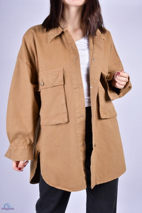 Кардиган женский джинсовый (цв.горчичный) OREO Размеры в наличии : 46, 48, 50 арт.5140-3
