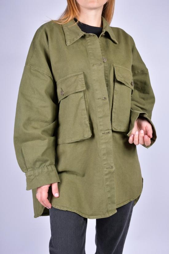 Кардиган женский джинсовый (цв.хаки) OREO Размеры в наличии : 46, 48, 50 арт.5140-4