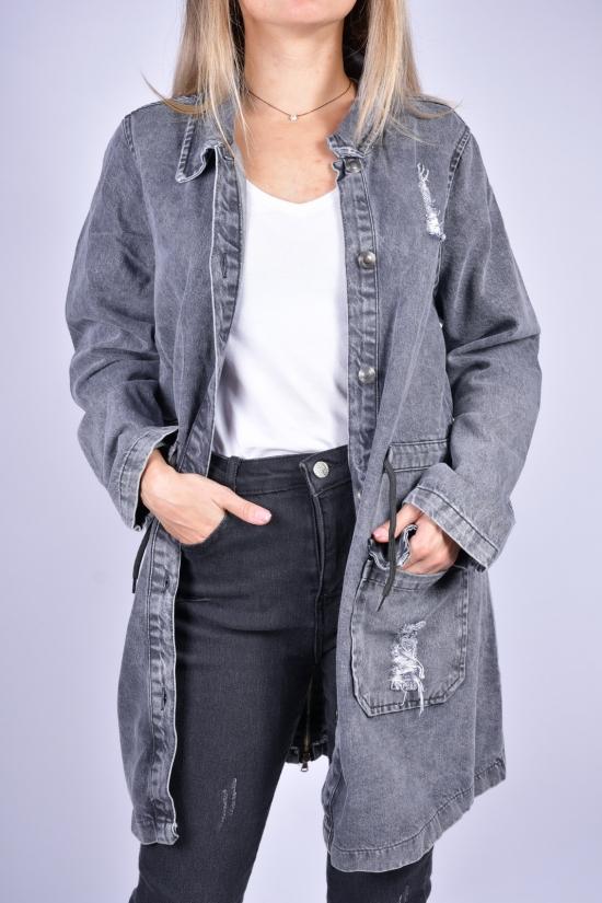 Пиджак джинсовый женский (цв.серый) ASIST Размеры в наличии : 40, 42, 44 арт.193