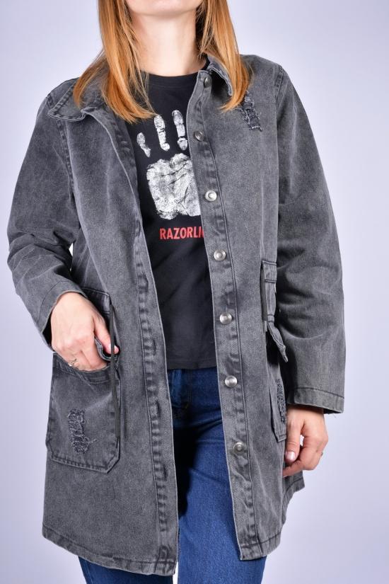 Пиджак джинсовый женский (цв.т/серый) ASIST Размеры в наличии : 40, 42, 44 арт.193