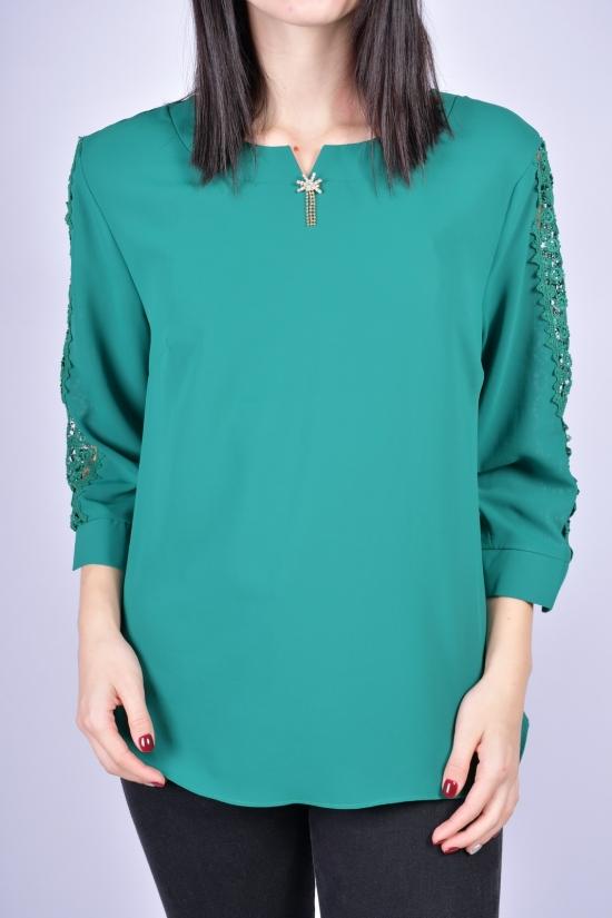Блузка женская шифоновая (цв.зеленый) ESAY Размеры в наличии : 44, 46, 48, 50 арт.8879B