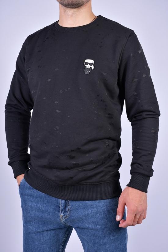 """Батник мужской трикотажный (цв.чёрный) """"KARL LAGERFELD"""" Размеры в наличии : 46, 48, 50, 52, 54 арт.ESY676"""