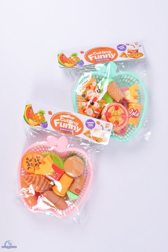 "Набор продуктов ""Фаст фуд"" (продукты на липучках корзинка) арт.6603/6605"