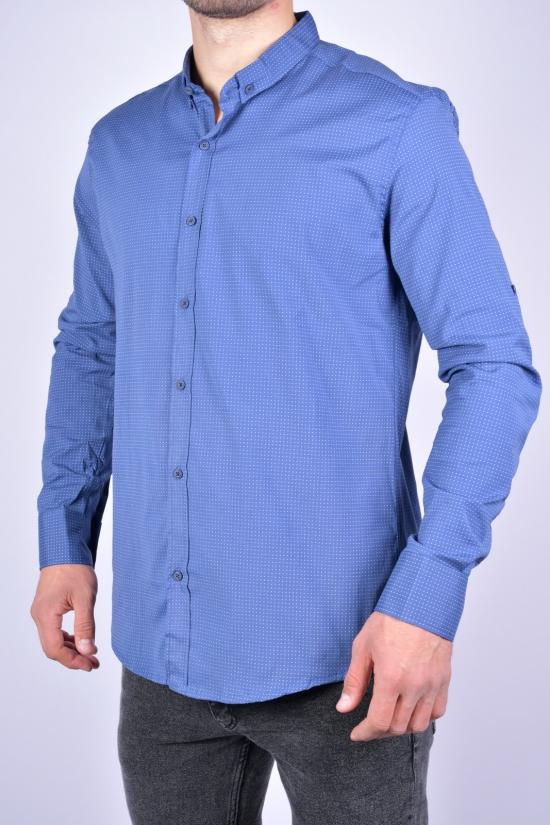 Рубашка мужская Slim Fit (цв.синий/т.синий) G-PORT Размеры в наличии : 46, 48, 50, 52, 54 арт.330