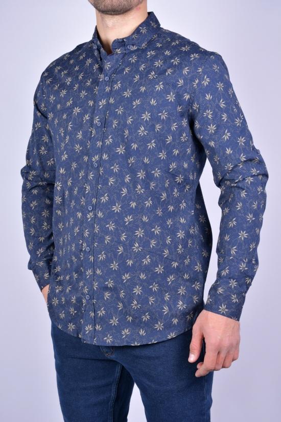 Рубашка мужская стрейчевая Slim Fit (цв.т.синий/хаки) G-PORT Размеры в наличии : 46, 48, 50, 52, 54 арт.180
