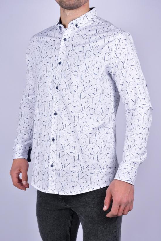 Рубашка мужская стрейчевая Slim Fit (цв.белый) G-PORT Размеры в наличии : 46, 48, 50, 52, 54 арт.630784