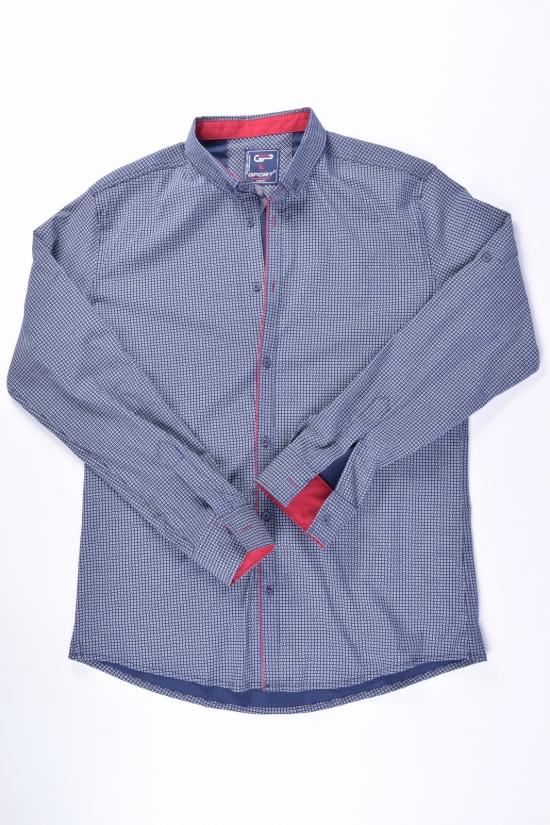 Рубашка мужская стрейчевая Slim Fit (цв.т.синий) G-PORT Размеры в наличии : 46, 48, 50, 52, 54 арт.235