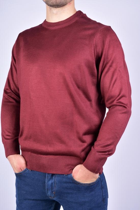 Гольф мужской (цв.бордовый) тонкой вязки WOOL Размеры в наличии : 48, 50, 52, 54 арт.631041