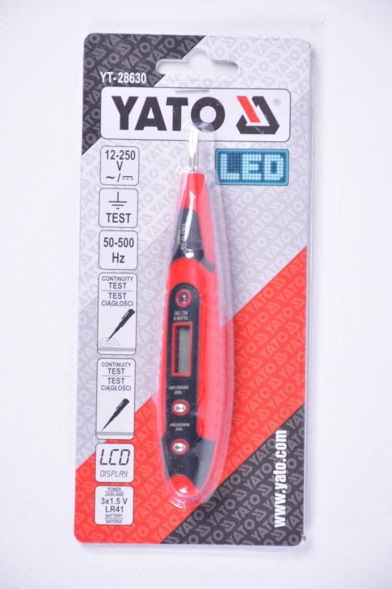 Индикатор напряжения сети YATO цифровой 12-250V арт.YT-28630