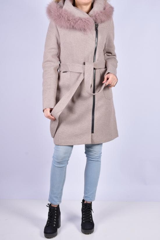 Пальто женское (цв.кремовый) демисезонное ROMATIC Размеры в наличии : 44, 46, 48 арт.798