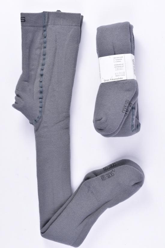 Колготки для мальчика махровые KBS (3)-цв. серый рост 98-104 арт.4-20001