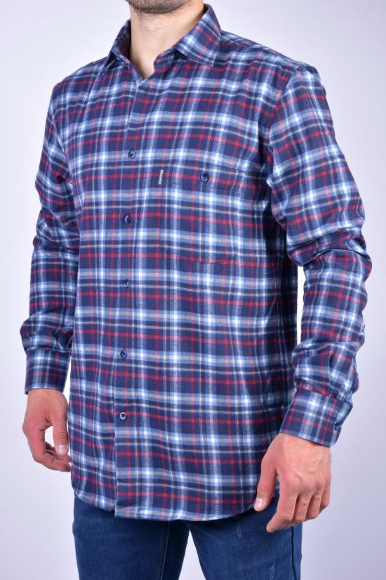 """Рубашка мужская байковая """"BROSARD"""" Размер ворота в наличии : 39, 40, 41, 42, 43, 44, 45, 46 арт.SKY1765"""
