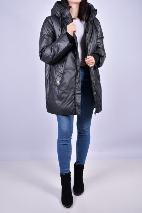 Куртка женская (цв.черный) зимняя OLANMEAR Размеры в наличии : 46, 50, 52, 54 арт.B630