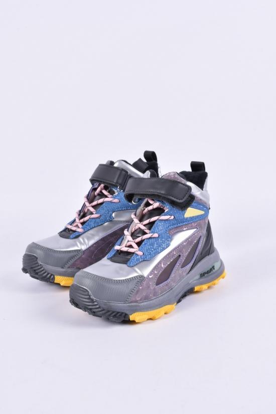"""Ботинки для девочки зимние """"Башили"""" на меху Размеры в наличии : 26, 27, 28, 29, 30, 31 арт.5313-1Q"""