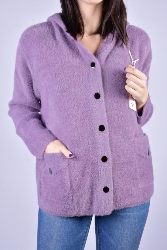 Кофта женская (цв.фиолетовый) (Альпака) Kiss Me размер 44-46 арт.X5083