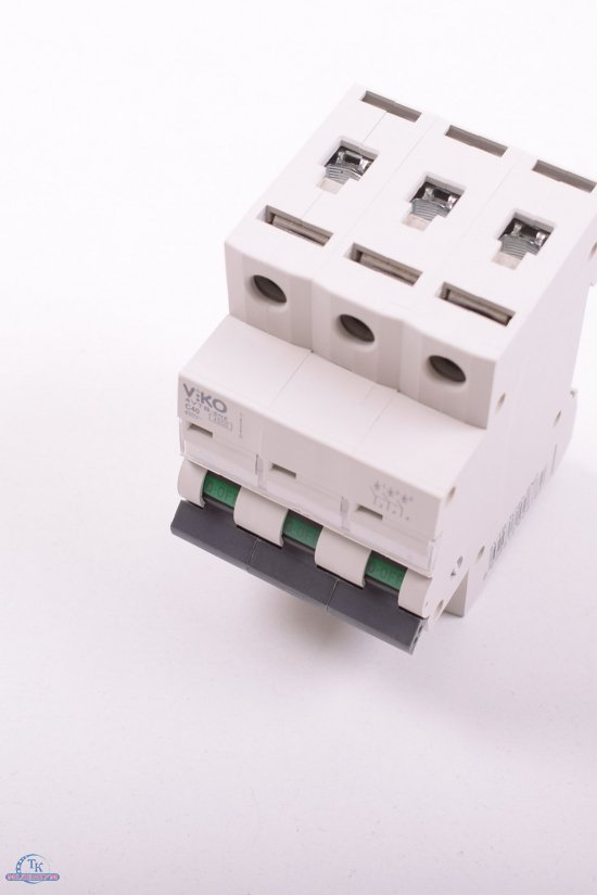 Автоматический выключатель (трёхполюсный) 40 A 4.5 KA 230/400V VIKO арт.4VTB-3C40-SN2
